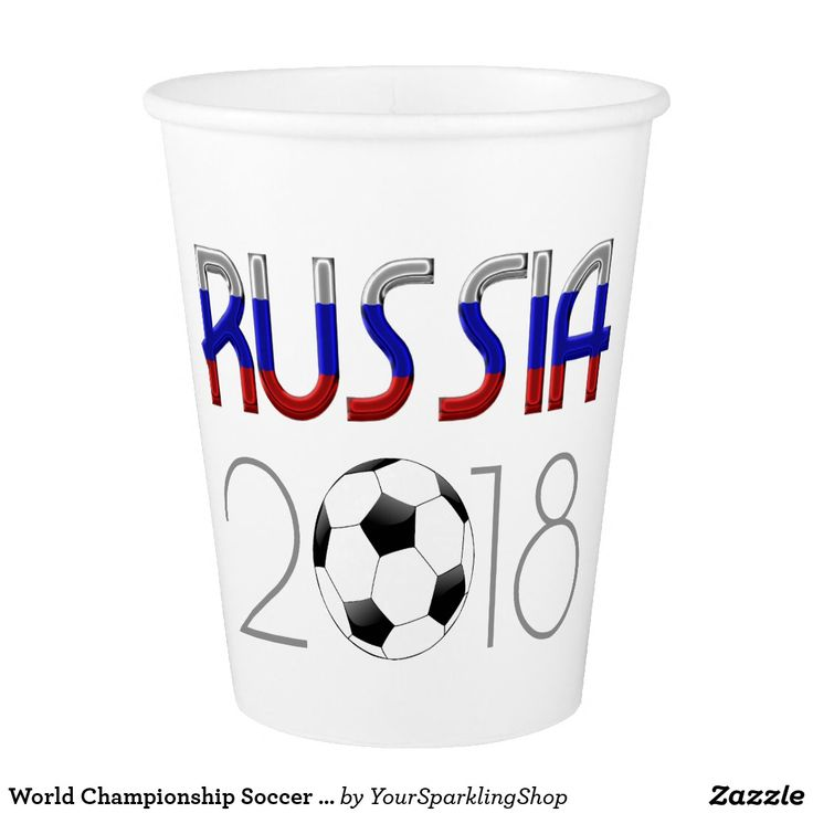 World Championship Soccer Russia 2018 Paper Cups #russianparty #russia #sports #soccer #worldchampionship #2018