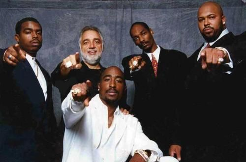 Death row records.. This pic is strange... R.I.P. Tupac.