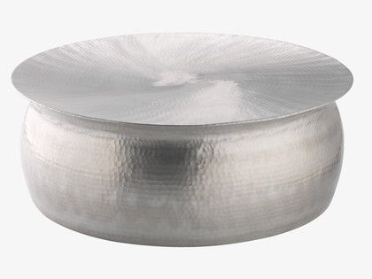 Orrico hammered aluminim coffee table created by our in-house design team. #Habitat