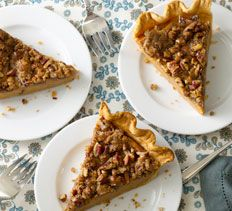 Desserts - Sweet Potato Pie with Pecan Streusel Topping