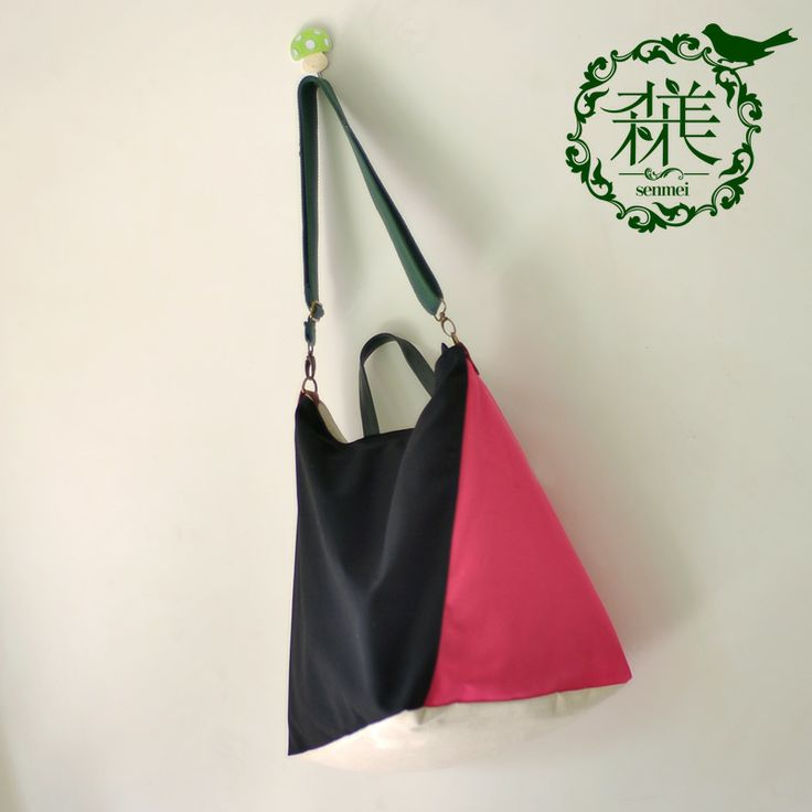 Canvas bag color block decoration bag messenger bag casual shoulder bag large capacity women's handbag color block