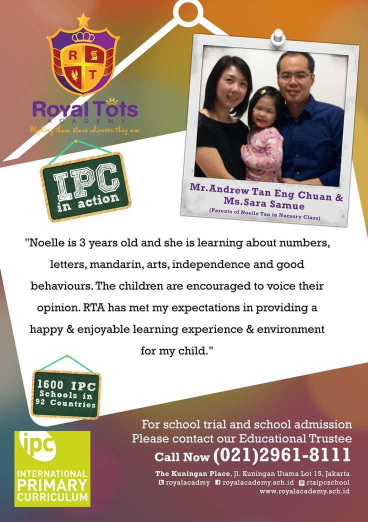 Mr.Andrew Tan & Ms.Sara  (Parents of Noelle Tan in Nursery Class)   #Parent #IPC #School #Testimony