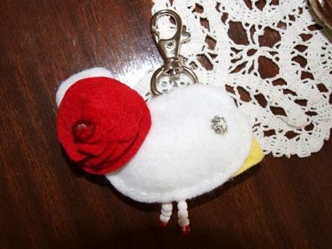 flowery key ring bird
