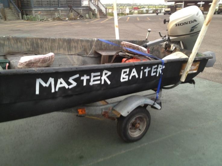 Funny Fishing Boat Name Master Baiter