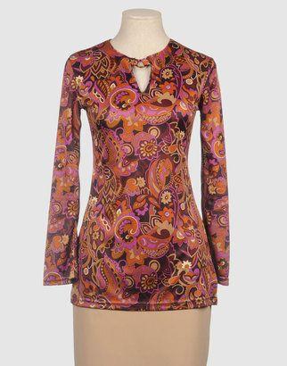 PIANURASTUDIO Long sleeve t-shirts - Shop for women's T-shirt - Dark brown T-shirt