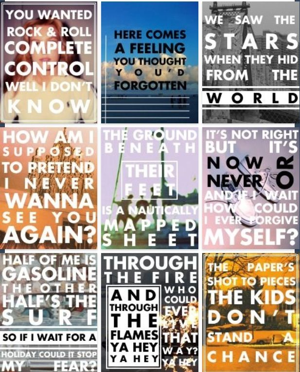 Great lyrics by the one and only, Vampire Weekend