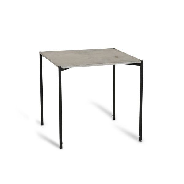 EH 6 - Dining Table. Concrete table and black powder painted legs. #diningtable #concretetable #table #concrete #danishdesign