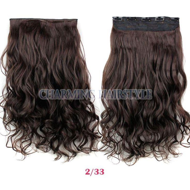 """Накладные волосы 24 """" длинные применить заколки на шиньоны мега наращивание волос вьющиеся синтетические клип парики полный купить на AliExpress"""