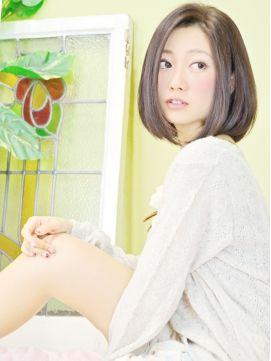 リビング ユー Livingu you2015人気最新黒髪ヘア☆水原希子風前髪なし重めワンカールボブ