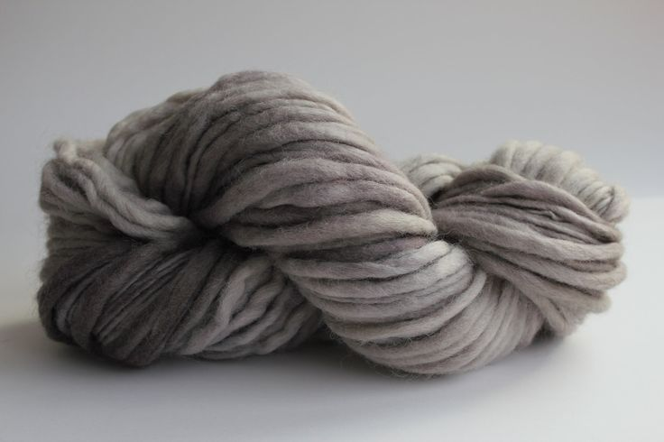 Sandstone Color Hand Spun Hand Dyed Thick and Thin Chunky Wool Knitting Yarn. $14.00, via Etsy.