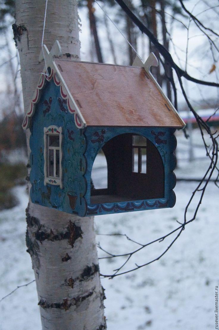 Купить Кормушка - синий, кормушка для птиц, русский стиль, русская традиция, народный стиль