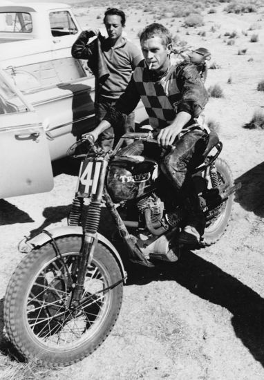 The 1964 Triumph TR6 - the machine and Steve McQueen's motorcycle races in the desert.