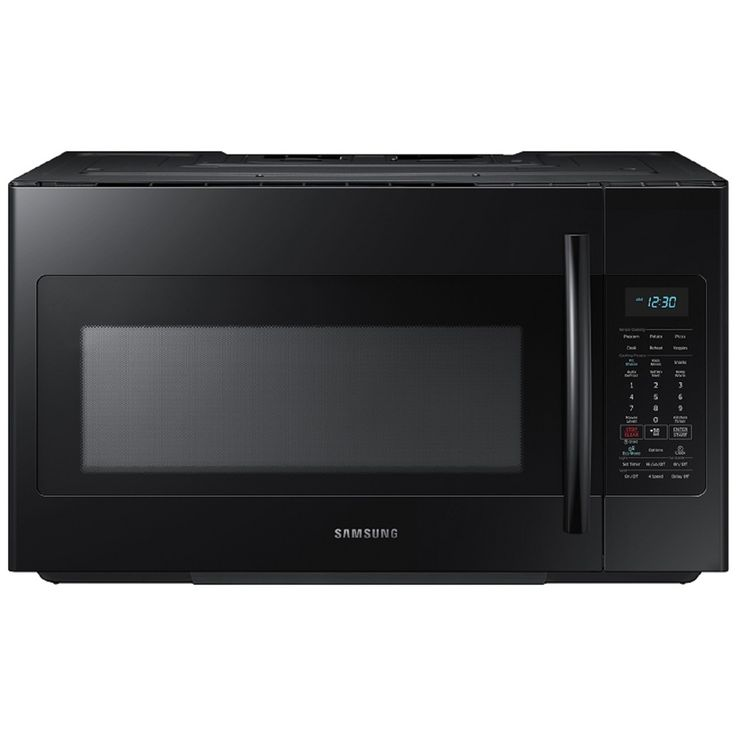 Samsung 1.8-cu ft Over-The-Range Microwave with Sensor Cooking Controls (Black)…