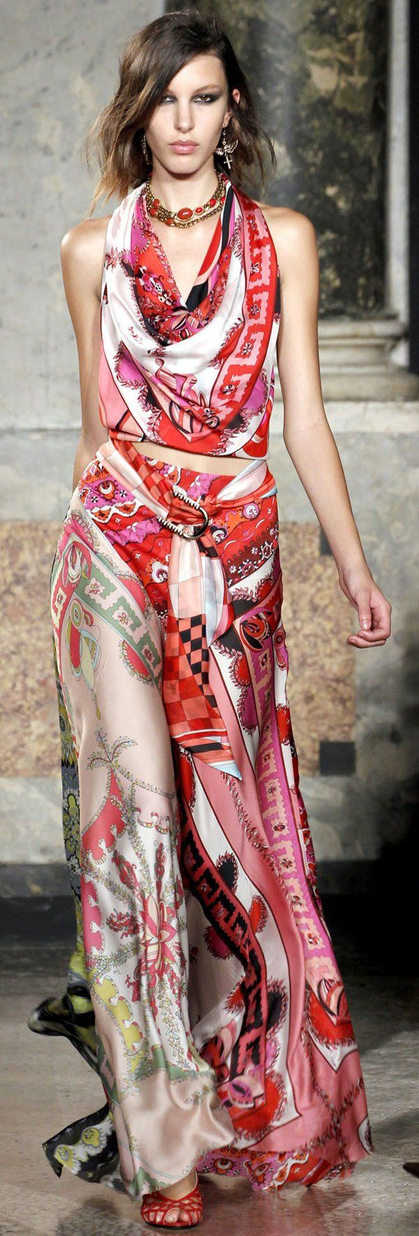 Emilio Pucci - I love the cut and the fabric - the way it moves like something crawling of itself, but I would like a different print.