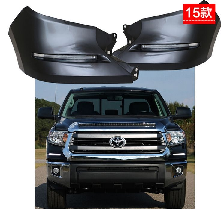 369.00$  Buy now - http://ali82t.worldwells.pw/go.php?t=32532783944 - free shipping ,LED Daytime Running Lights DRL LED Front Bumper Fog Lamp case for Toyota Tundra 2015, complete kit 369.00$
