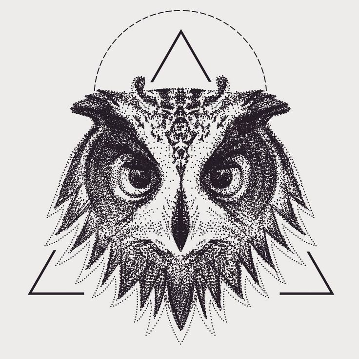 Fresh WTFDotworkTattoo Find Fresh from the Web Owl #illustration #drawing #art…