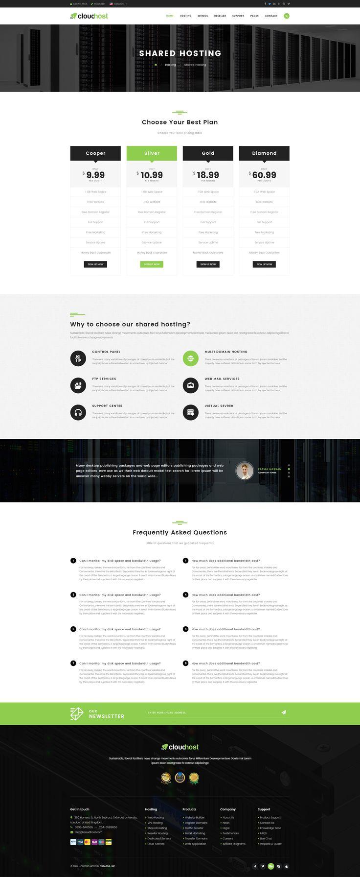 Cloud Host Innovative Hosting PSD Template Innovative