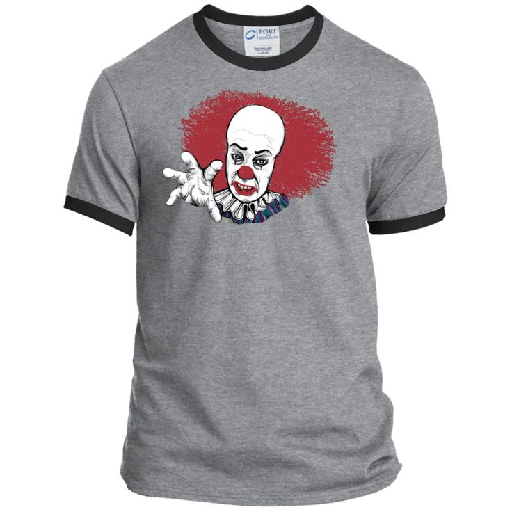Stephen Kings IT Pennywise the Clown - Unisex Ringer Tee