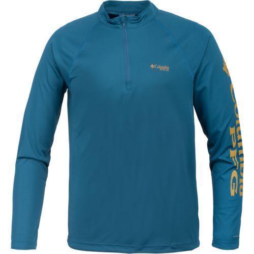 Columbia Sportswear Men's Terminal Tackle 1/4 Zip Sport Top (Navy/Medium Blue, Size XX Large) - Men's Outdoor Apparel, Men's Fishing Tops at Academ...
