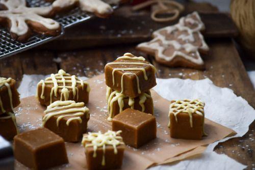 sweetoothgirl:    White Chocolate Gingerbread Fudge