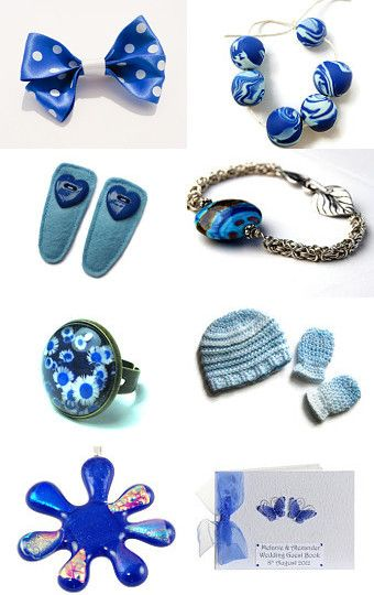 Shades of Blue by Carolyn Ford on Etsy--Pinned with TreasuryPin.com