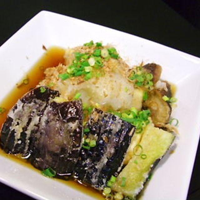 超簡単 揚げ出し豆腐&茄子
