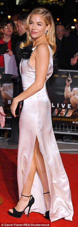 Glamour: The actress, who plays Irish minx Emma Gould, absolutely oozed elegance in a figure-hugging monochrome dress