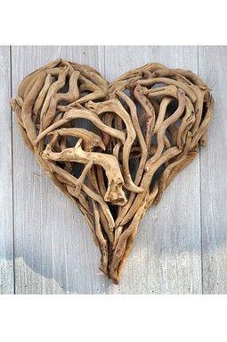 #Cœur en #bois flotté
