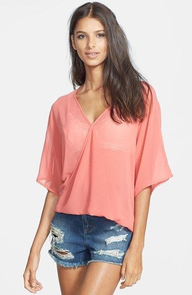 Wayf Faux Wrap High/Low Top available at #Nordstrom