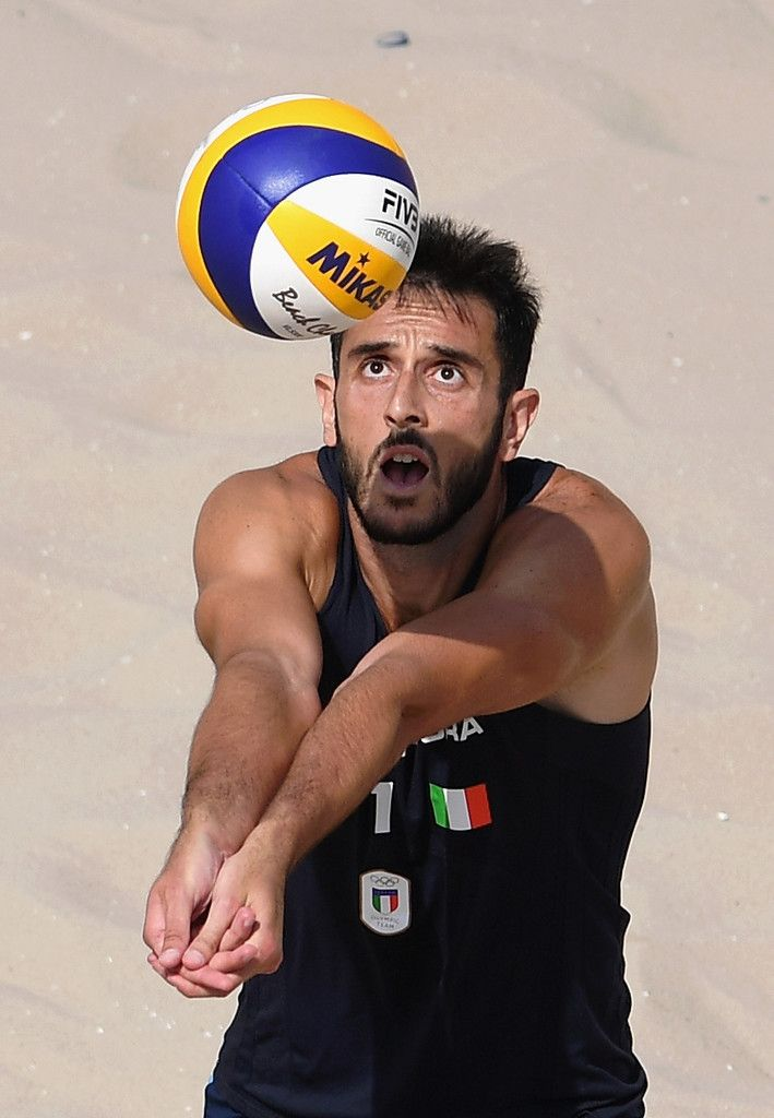 Paolo nicolai Photos - Paolo Nicolai of Italy in action against Rodolfo Lombardo Ontiveros Gomez and Juan Ramon Virgen Pulido of Mexico during the Men's Beach Volleyball preliminary round Pool C match on Day 2 of the Rio 2016 Olympic Games at the Beach Volleyball Arena on August 7, 2016 in Rio de Janeiro, Brazil. - Beach Volleyball - Olympics: Day 2