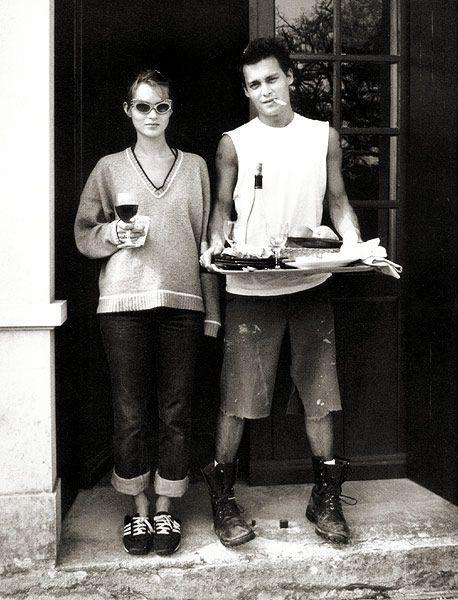 Annie Leibovitz Kate Moss Johnny Depp 1995 Eat Drink Die