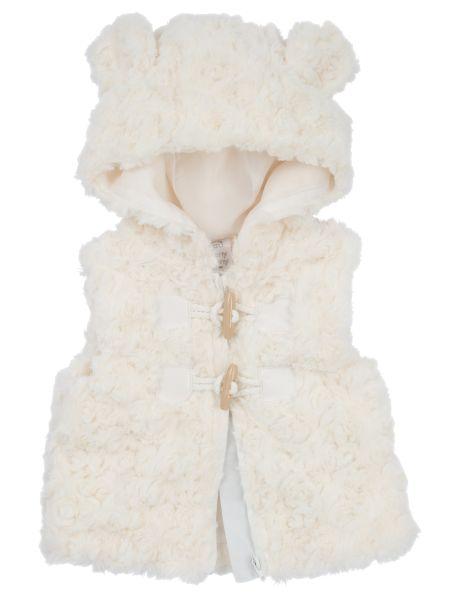 Teeny Weeny Swirly Rosette Hooded Vest #NewandNow