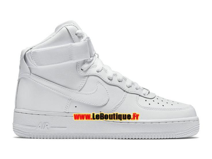 Nike Wmns Air Force 1 High 08 LE - Chaussure Nike Montante Pas Cher Pour Femme/Enfant Blanc 334031-105