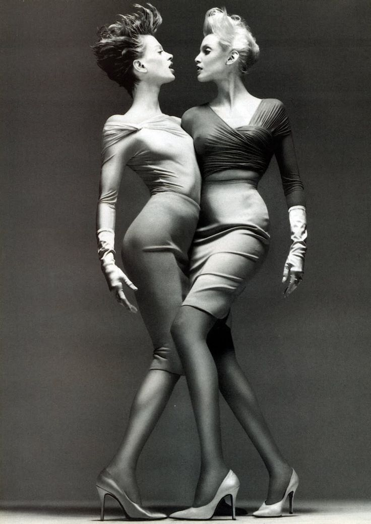 Kristen Mc Menamy Nadja Auermann  Versace 1995 Photo Richard Avedon