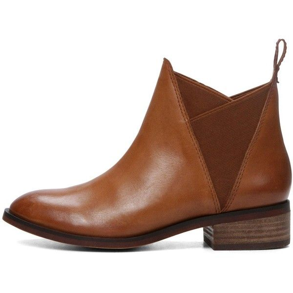 Aldo Scotch Flat Chelsea City Ankle Boot (€105) ❤ liked on Polyvore featuring shoes, boots, ankle booties, short boots, leather boots, chelsea boots, leather booties and aldo booties