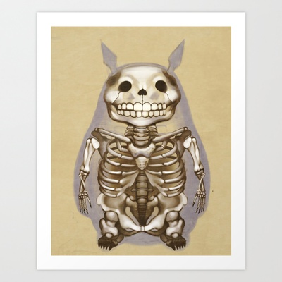 Totoros X-Ray Art Print by WeijiC - $15.00 - http://azpitituluak.com/euskaraz/1396771174