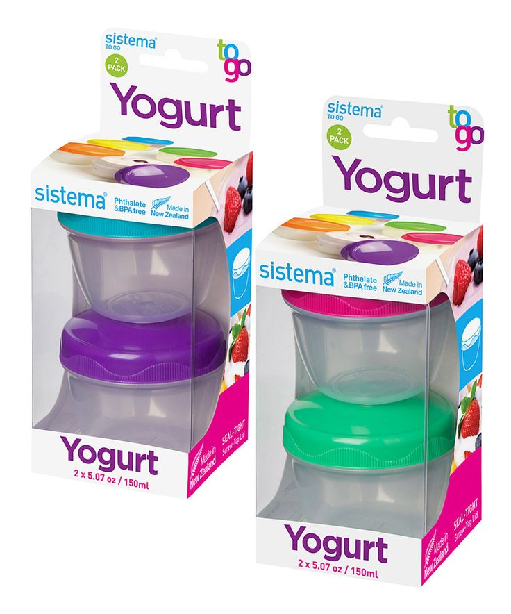 Another great find on #zulily! Yogurt To-Go Container Set by Sistema #zulilyfinds