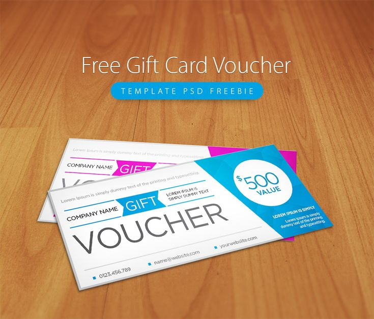 Awesome Free Gift Card Voucher Template PSD Freebie ...