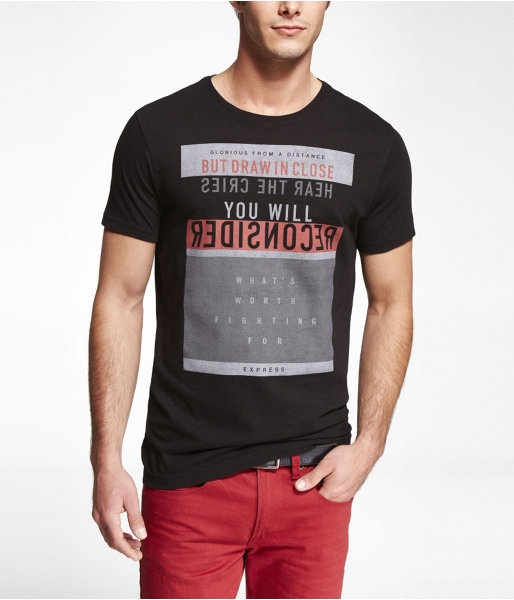 Express Mens Graphic Tee From A Distance