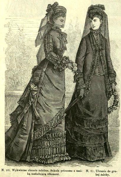 Stroje żałobne, 1876   Mourning clothes, 1876