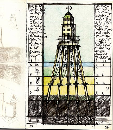 Architectural sketches: Aldo Rossi