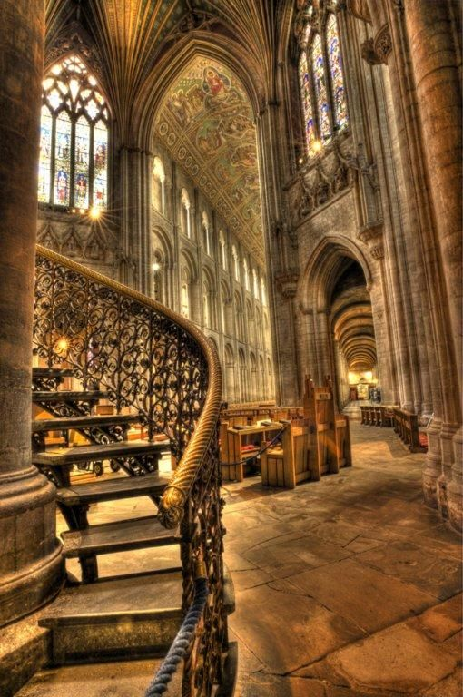 Ely Cathedral (in full, The Cathedral Church of the Holy and Undivided Trinity of Ely) is the principal church of the Diocese of Ely, in Cambridgeshire, England. Posted by dtmphotography. (Pixdaus)