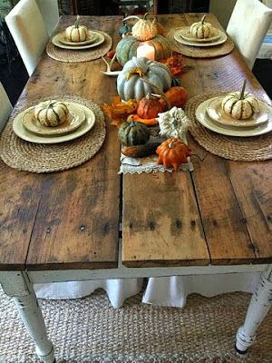 Junkaholics Unanimous 10 Find Antique Farm Table And Fall Tablescape