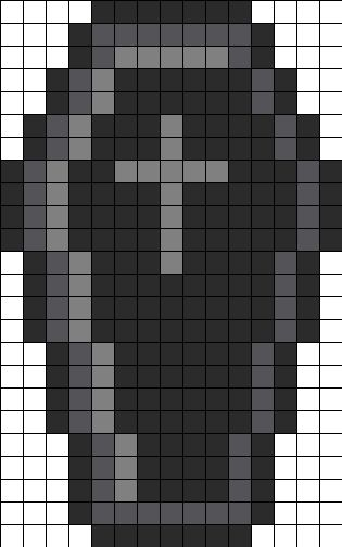 Black Coffin Perler Bead Pattern
