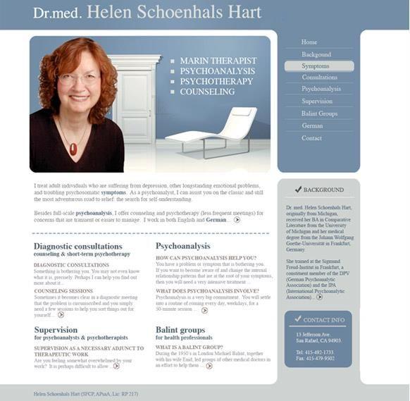 proposed web design for a psychologist