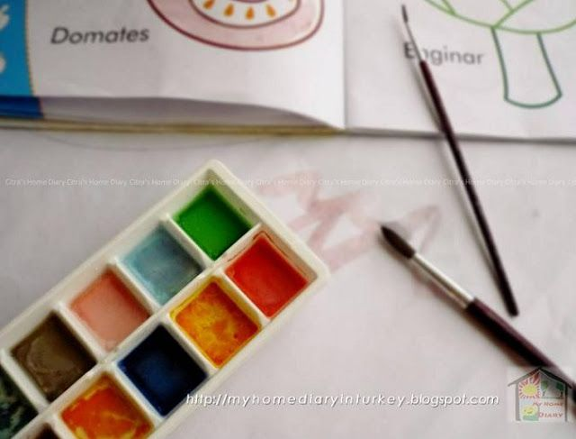 Citra's Home Diary: DIY Non toxic water color for kids