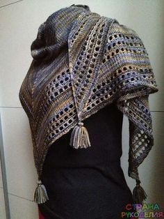 Теплый и уютный бактус спицами - Шали,шарфы,палантины - Страна рукоделия