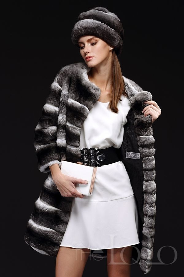 Aliexpress.com : Buy 2013 women's chinchilla fur coat Top blue black velvet collarless medium long fur overcoat outerwear pc283 from Reliable chinchilla coats suppliers on Dancing With Vogue. by stacyjustdoit