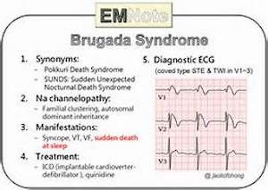 BRUGADA SYNDROME - BECAUSE THERE ARE THINGS MEN NEED TO KNOW