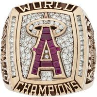 "2002 Anaheim Angels World Series Championship Ring Presented to ""Rally Monkey"" Creator"